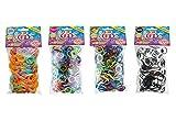 CRAZE Loops 600er Knüpfringe bunt Silikonringe Armband Silikon Bänder Gummi Mega US-Trend 50973,...