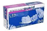 Semperguard Latex-Einmalhandschuhe, ungepuderte Ausführung, Größe L, 100 Stück