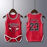 BeKing Unisex Baby Body - NBA Jordan 23/Curry 30/James 23/Irving 11 Basketball Trikot Ärmellos für...