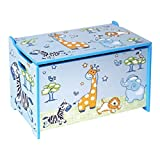 Bieco Spielzeugtruhe und Sitzbank | Aufbewahrungsbox Kinder | Holzkiste mit Deckel | Sitzbank mit...