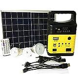 cyg Solar Home System, Tragbar 10W Solarpanel-Stromerzeuger Zuhause Solar Beleuchtung System für...