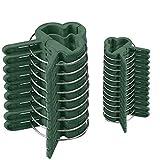 varivendo Pflanzenklammer Set, Pflanzenclips/Pflanzenbinder 40 große + 60 kleine (100er Set)