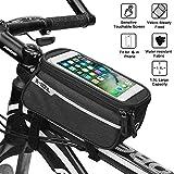Fahrradrahmen-Tasche, Fahrrad-Tasche, Fahrrad-Tasche, wasserdichte Vorderrohr-Tasche, Touchscreen,...