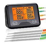 DEALBUHK Fleisch-Thermometer, sofort ablesbar, für Küche, Kochen, WiFi, Grill-Thermometer,...
