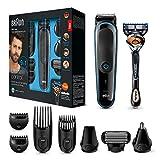 Braun 9-in-1 Multi-Grooming-Kit MGK3085, Barttrimmer und Haarschneider, Körperhaartrimmer, Ohren-...