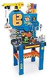 Smoby 360715 - Bob der Baumeister Werkbank-Center mit Kran, Kinderwerkbank, Kinderwerkzeug, ab 3...