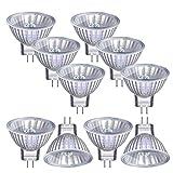 Vicloon Halogenlampen MR11, 10 Stück MR11/GU4 Halogen-Reflektor, 12V, 20 Watt, 300LM, 2800K...