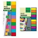 SIGEL HN684 Haftmarker Folie, 500 Mini-Streifen, 10 Farben im Format 12,5 x 44 mm - auch in Papier