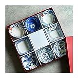 Vorspeisenplatte Keramik Sushi Geschirr 8-teiliges Set für Sushi-Teller Suppensauce Schalen Tolles...