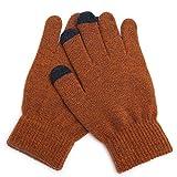 N/A NA Handschuhe fr den Winter, Plsch, gestrickt, warm, dick, Touchscreen-Handschuhe, fr den...