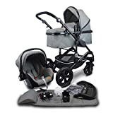 Pixini Kinderwagen (grau melange, California 3in1)