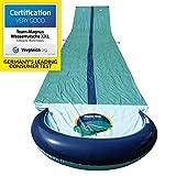 TEAM MAGNUS Wasserrutsche XXL (950x160cm) - Slip und Slide aus strapazierfähigem 0.22mm PVC