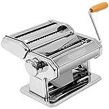 monzana Nudelmaschine Pastamaschine Pastamaker aus Edelstahl für 9 verschiedene Teigdicken