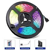 Adoric 5m Licht LED Strip,Led Streifen Lichtband 300 LEDs (SMD 3528) MEHRWEG,Farbwechsel,Netzteil &...