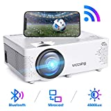 【2020 Neu】 WiFi Beamer, VicTsing Mini Beamer mit Bluetooth, 4500 Lumen 1080P Full HD, Wireless...
