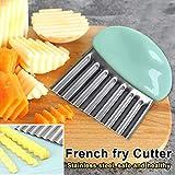 Belarn Kartoffelschneider, Edelstahl, multifunktional, Wellenmesser, Pommes Frites, Wellenschneider,...