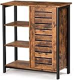 DICTAC Vintage Kommode Sideboard Küchenschrank Wohnzimmerschränke Seitenschrank mit 3 offenen...
