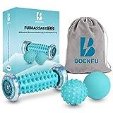 BOENFU Neueste Verbesserte Version Fußmassagegerät Fußmassage Roller [3er Set]-Muskel Roller &...