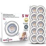 LED Einbauleuchten schwenkbar ultra flach inkl. 10 x LED-Modul 5W 450lm 3000K warmweiß...