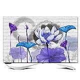Schutzhülle Fernseher Outdoor Wasserdichte Tv-abdeckung für Draußen mit Blauem Lotus-muster 19...