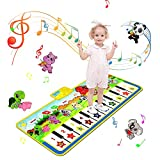 sanlinkee Piano Matte Tanzmatten Klaviermatte für Kinder,100X36 cm Musikmatte Kinder 8 Tierstimmen...