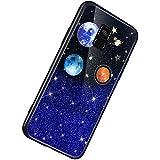 Herbests Kompatibel mit Samsung Galaxy A8 2018 Hülle TPU Schutzhülle Glitzer Sterne Universum...