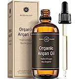 Bio Arganöl kaltgepresst für Haut, Haare & Nägel - 100ml Argan Öl mit Pipette