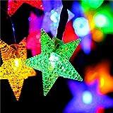 Solar Garten Lichter, Led Outdoor Sternenhimmel Dekorative Lichterkette Multi Farbige Sternenhimmel...