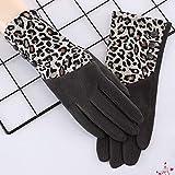 cookin Damen Leopard Print Handschuhe mit Fleece T-Touch Bildschirm für Zeigefinger Damen Leopard...