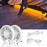 LED Bettlicht mit Bewegungssensor, Bett Lichtleiste Nachtlicht Baby Steckdose Streifen Dimmbar,...