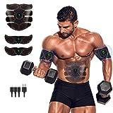 SCJ ABS elektrischer Muskelstimulator, tragbarer Elektrostimulator Fitness Körper abnehmen...