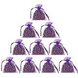10 Stück Lavendelsäckchen - Lavendel Duftsäckchen, 100g Lavendelblüten Getrocknet Lavendel Gegen...