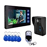 SCZZ Video Türklingel, WiFi Videotelefon Freisprech Intercom, 7-Zoll-HD-Bildschirm Buttontouch Home...