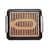 PDVCB elektrischer Innengrill Antihaft-dauerhafter elektrothermischer Grillplatte Fast BBQ...
