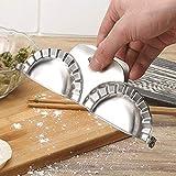 2 Edelstahl Ravioli Dumpling Maker, Küche Werkzeuge Knödel Jiaozi Hersteller Gerät Einfach DIY...