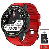 YHML Smartwatch GPS-Uhr Multi-Sport-Modus SIM-Karte Pedometer Herzfrequenz-Blutdruckmessgerät...