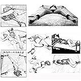 Vier Plüschhüllen für das B-D-S-M Bett, geeignet für die meisten Betten, interessantes...