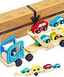 Jaques of London Fahrzeugtransporter Hölzerne Auto Spielzeug - Holzspielzeugautos in...