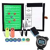 BizoeRade Taktiktafel Fußball Coach Board mit Stift, Radiergummi, Magnet, Digitale Großem...