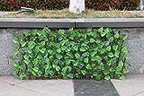 adfafw Holzgitter ausziehbar Hecke mit Blättern Zaun Pflanzen Hecke Efeuhecke Sichtschutz...