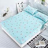 SDUK Bettlaken aus Polyester/Baumwolle mit elastischem Matratzenbezug für Matratzen mit Einer Dicke...