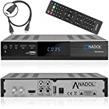 Anadol HD 222 Plus HD HDTV digitaler Satelliten-Receiver (HDTV, DVB-S2, HDMI, 2X USB 2.0, Full HD...