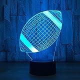 Nachtlicht Fußballlampe 3D Led Touch Sensor Kinder Nachtlicht Bett Zimmer Urlaub Geschenk...