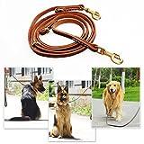 Han Lucky Star Hundeleine Leder, 250X1.2cm Hundeleine aus Leder Geflochtene Leder Hundeleine...