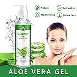 Aloe Vera Gel 100% Pur - für Gesicht, Haare und Körper - Natürliche, beruhigende und pflegende...