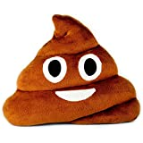 Desire Deluxe Emoji Kissen bunter lächelnder Kackhaufen Braun Poo Emoticon Kacke Rund Kissen...