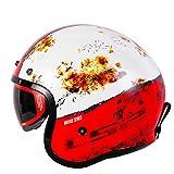 MYSdd Retro-Motorradhelm-Modedesign Retro-Helm mit Schaumstoffschnalle, abnehmbaren Ohrpolstern,...