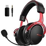 Mpow Air 2,4 GHz Wireless Gaming-Kopfhörer für PS4/PC, 3D Surround, Bass-Latenz 17 Stunden Nutzung...