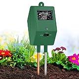 XDDIAS Bodentester,3 in 1 Bodenmessgerät Boden Feuchtigkeit für Pflanzen,pH Lichtstärke Meter...