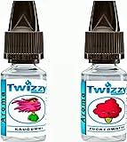 2 x 10ml Twizzy® Sugar Shock Aroma Bundle   Kaugummi, Zuckerwatte   Aroma für Shakes, Backen,...